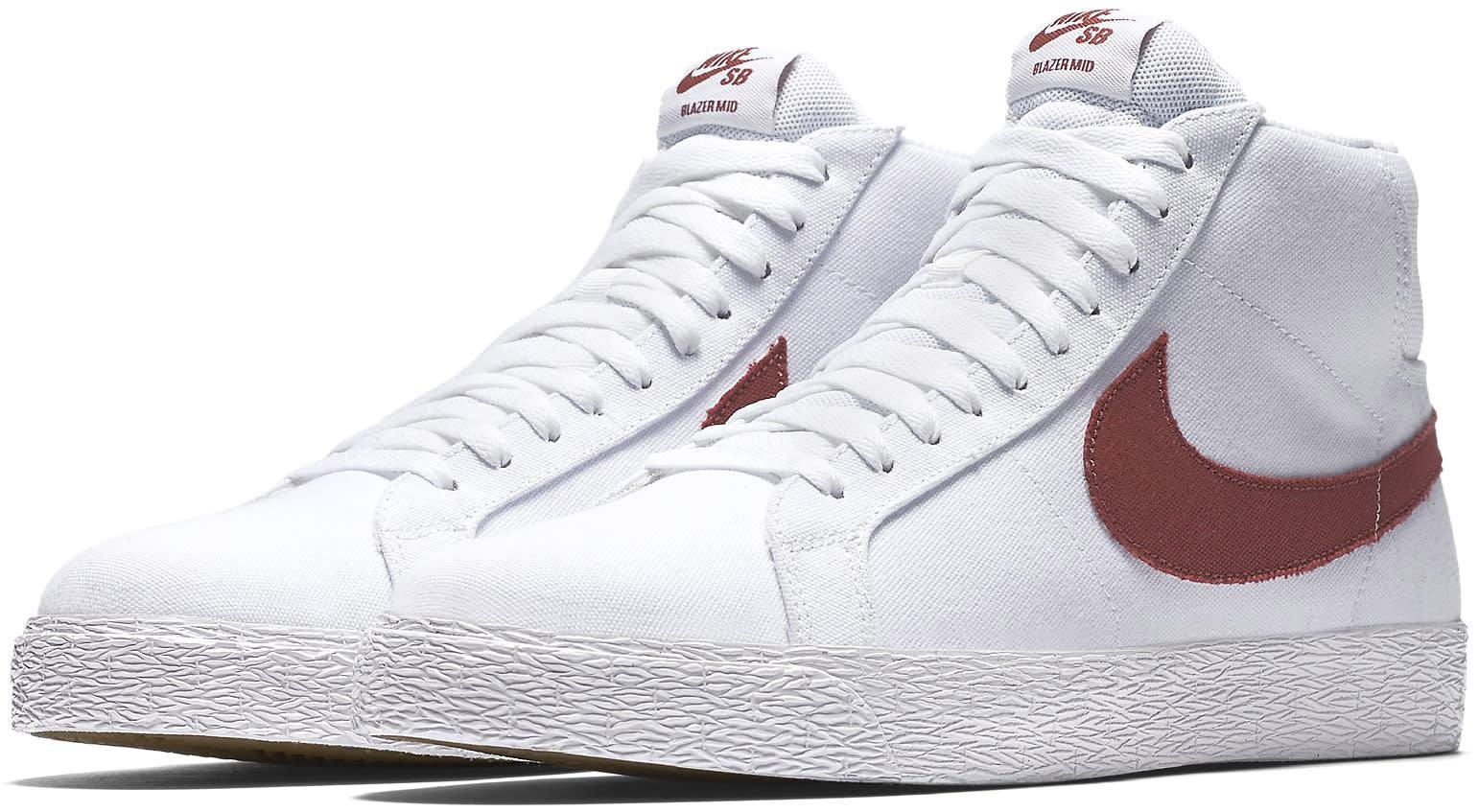 1674a34e469b Nike SB Blazer Zoom Mid Canvas Skate Shoes - thumbnail 3
