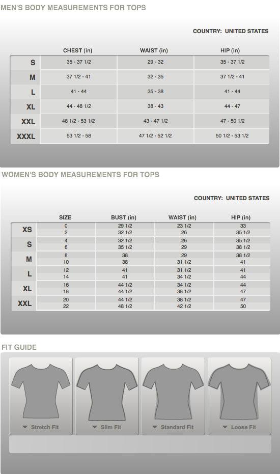 Nike Size Chart
