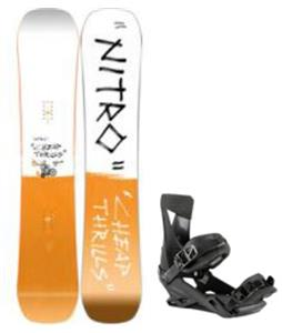 Nitro Cheap Thrills Snowboard w/ Zero Bindings