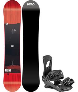 Nitro Prime Screen Wide Snowboard w/ Rambler Bindings