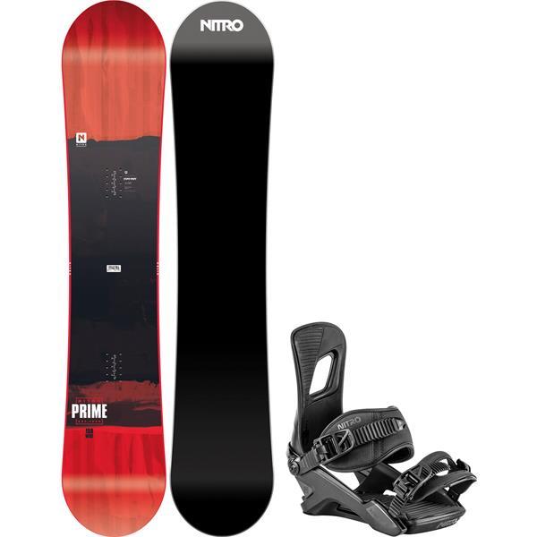 Nitro Prime Screen Wide Snowboard W/ Rambler Bindings 2020
