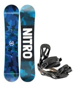 Nitro Ripper Youth Snowboard w/ Charger Mini Bindings