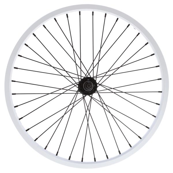 "Eastern Double Shot Front 3 / 8 36H Bmx Wheel White 3 / 8"" U.S.A. & Canada"