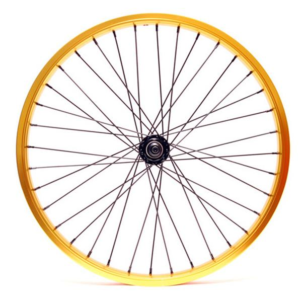 "Eastern Double Shot Front 3 / 8 36H Bmx Wheel Gold 3 / 8"" U.S.A. & Canada"