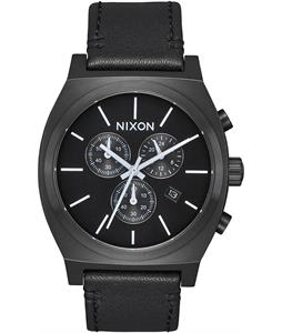 Nixon Time Teller Chrono Leather Watch