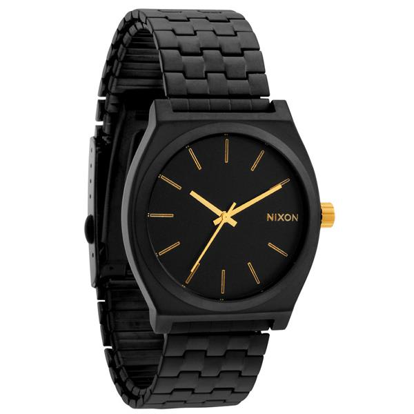 Nixon Time Teller Watch Matte Black / Gold U.S.A. & Canada