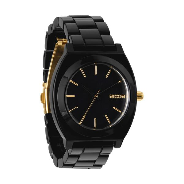 Nixon Time Teller Acetate Watch All Black / Gold U.S.A. & Canada