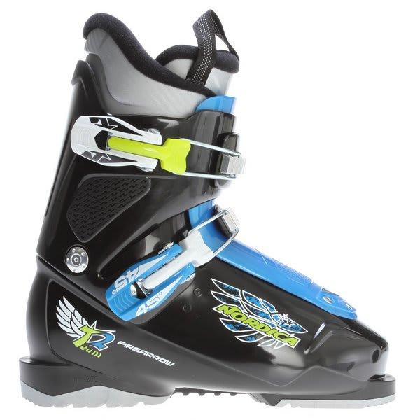 Nordica Firearrow Team 2 Ski Boots Black / Light Blue U.S.A. & Canada