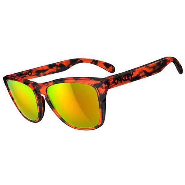 Oakley Frogskins Sunglasses Acid Tortoise Orange / Fire Lens U.S.A. & Canada