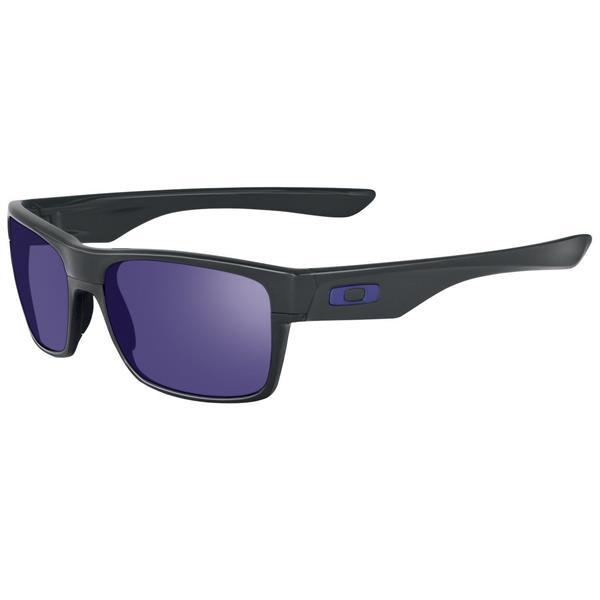 Oakley Twoface Sunglasses Matte Black / Violet Iridium Lens U.S.A. & Canada