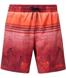 Oakley Beach Flower Striped 18in Boardshorts