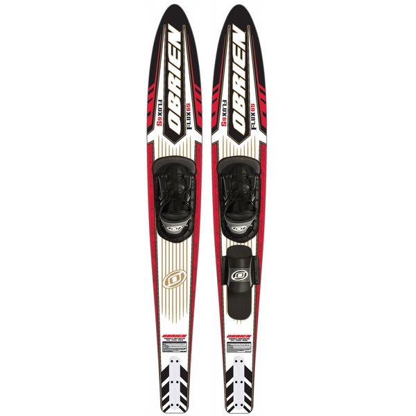 "O' Brien Flux Waterskis 65"" W / X8 Rt Std Bindings U.S.A. & Canada"