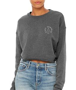 Oddyss Camp Nowhere Cropped Sweatshirt