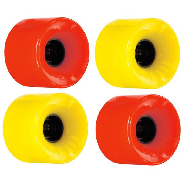 Ojs Hot Juice 78A Skateboard Wheels Red And Yellow 60Mm U.S.A. & Canada