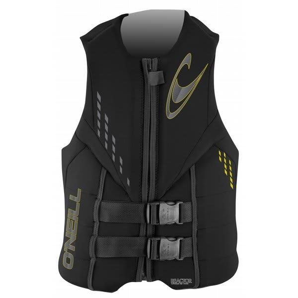 O' Neill Reactor 3 Uscg Wakeboard Vest Black / Black / Black U.S.A. & Canada