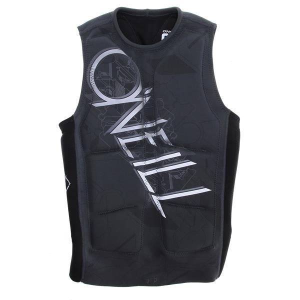 O' Neill Gooru Padded Comp Wakeboard Vest Graphite / Black U.S.A. & Canada