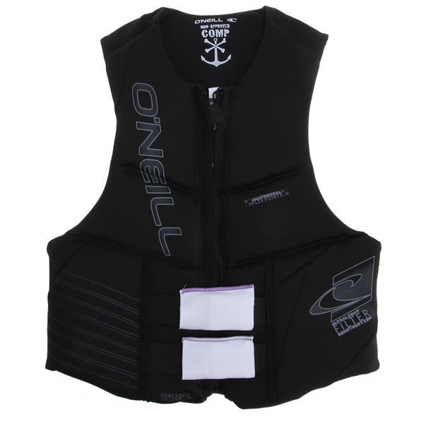 O' Neill Outlaw Comp Wakeboard Vest Black / Black / Black U.S.A. & Canada