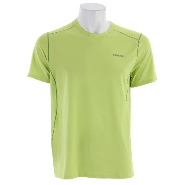 Patagonia Capilene 1 Sw Stretch T Shirt Lemon Lime U.S.A. & Canada