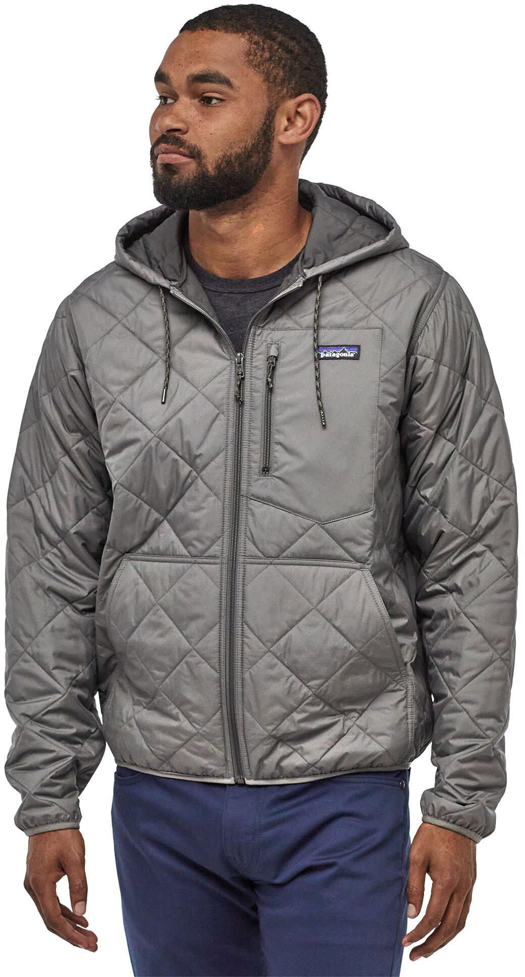 Patagonia Diamond Quilt Bomber Hoodie Jacket