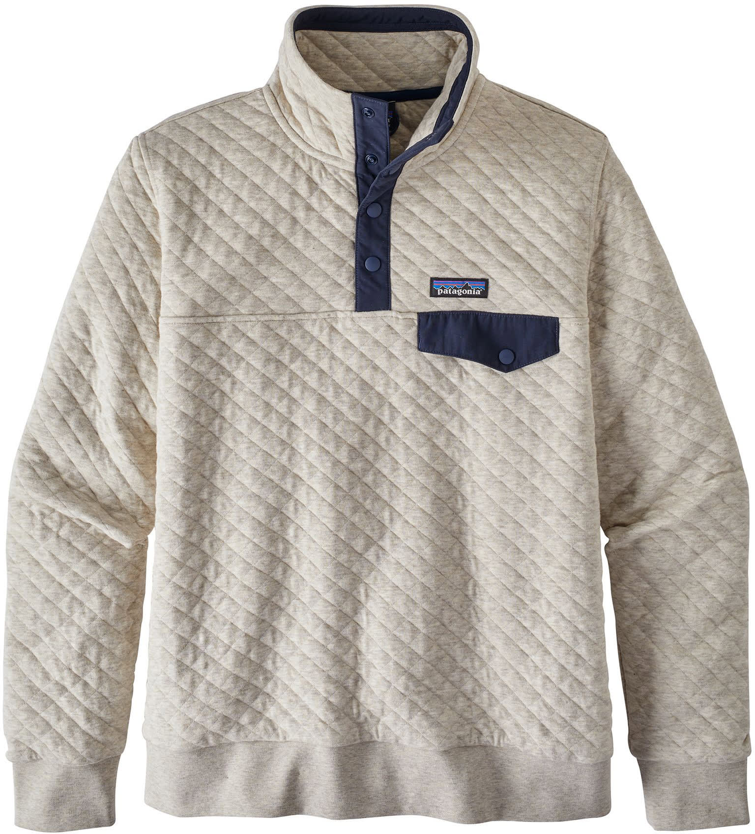 Patagonia Organic Cotton Quilted Snap T Pullover Fleece