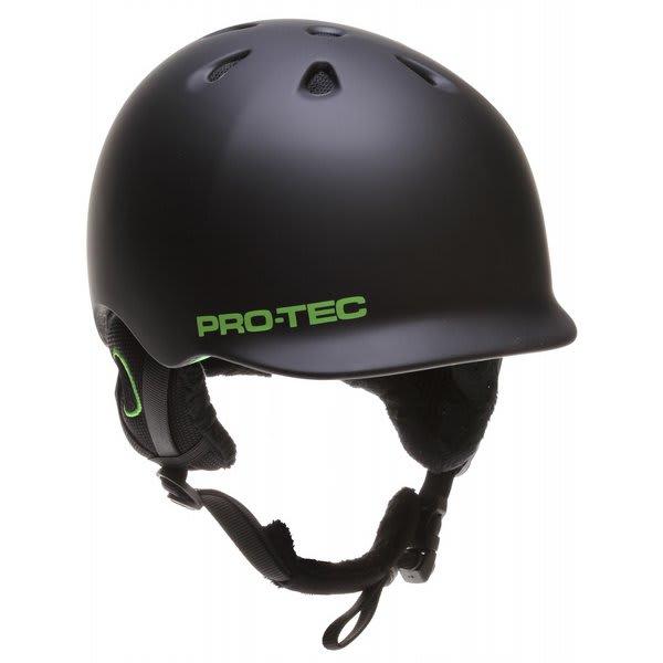 Protec Riot Snowboard Helmet Matte Black / Green U.S.A. & Canada