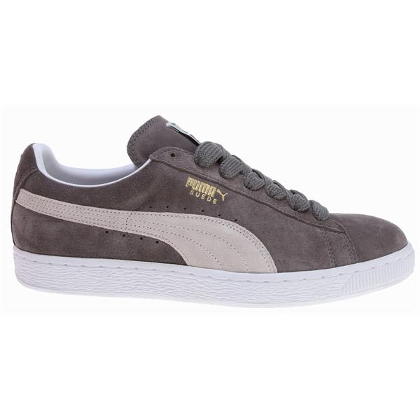 Puma Suede Classic Plus Shoes Steeple Gray / White U.S.A. & Canada