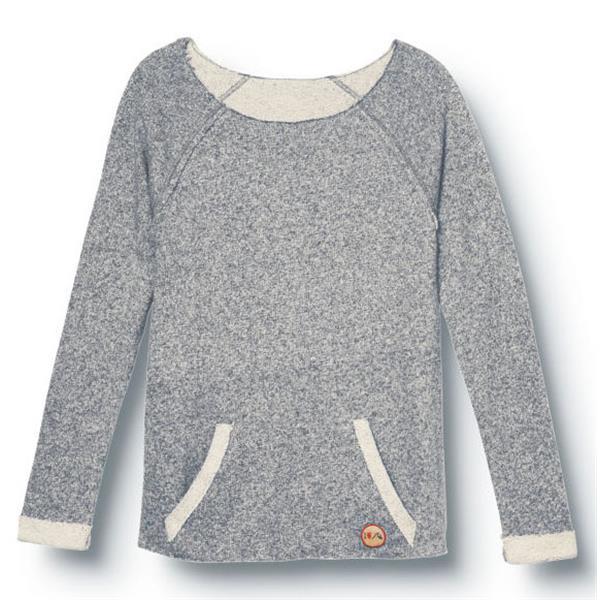 Quiksilver I Heart Qs Scoop Neck Sweatshirt Indigo Blue U.S.A. & Canada