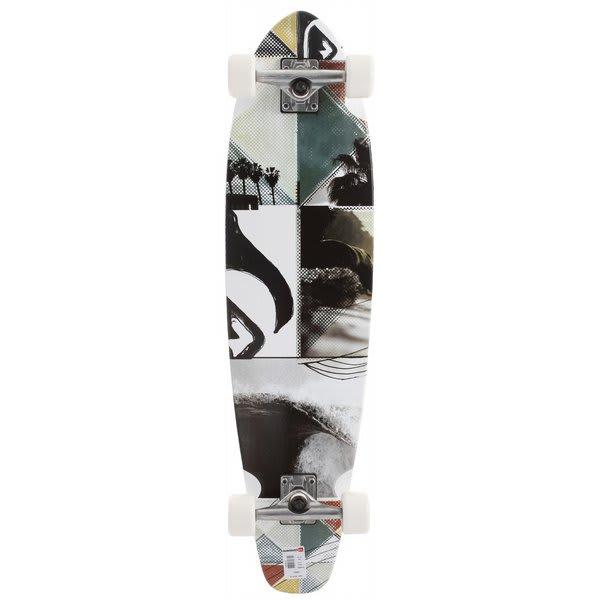 Quiksilver Strand Lb Longboard Skateboard White U.S.A. & Canada