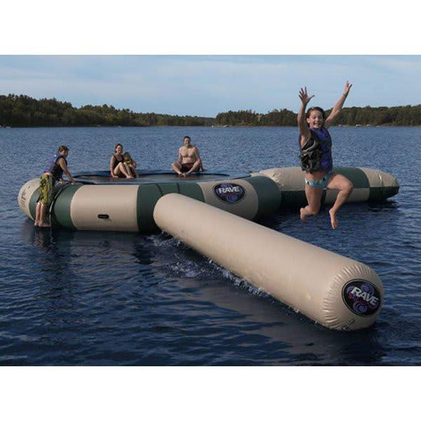 Rave Aqua Jump Northwoods Water Trampoline 15 W / Launch And Log U.S.A. & Canada
