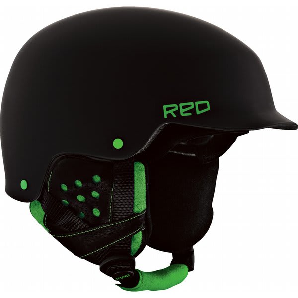Red Mutiny Snowboard Helmet Black / Green U.S.A. & Canada