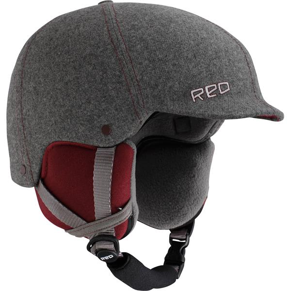 Red Mutiny Snowboard Helmet Gray Fabric U.S.A. & Canada