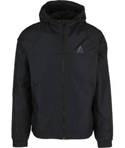 Reebok Black Fleece Lined Windbreaker Jacket