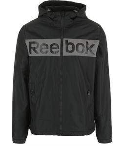 Reebok Logo 2 Fleece Lined Windbreaker Jacket