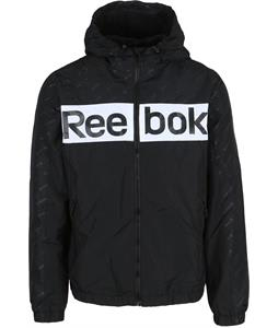 Reebok Logo Fleece Lined Windbreaker Jacket