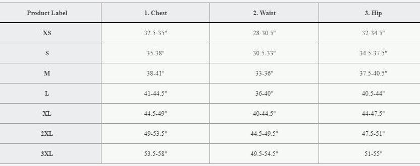 Reebok Men's Size Chart