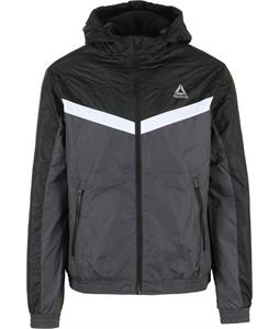 Reebok Striped Fleece Lined Windbreaker Jacket