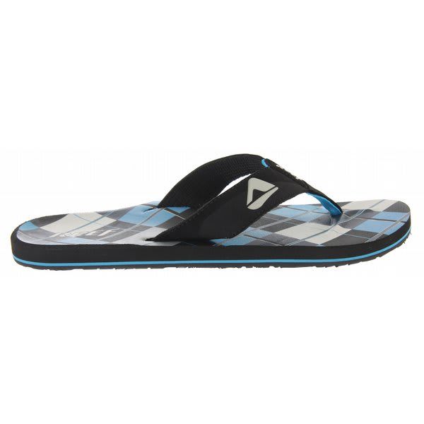 Reef Ht Prints Sandals Black / Blue Plaid U.S.A. & Canada