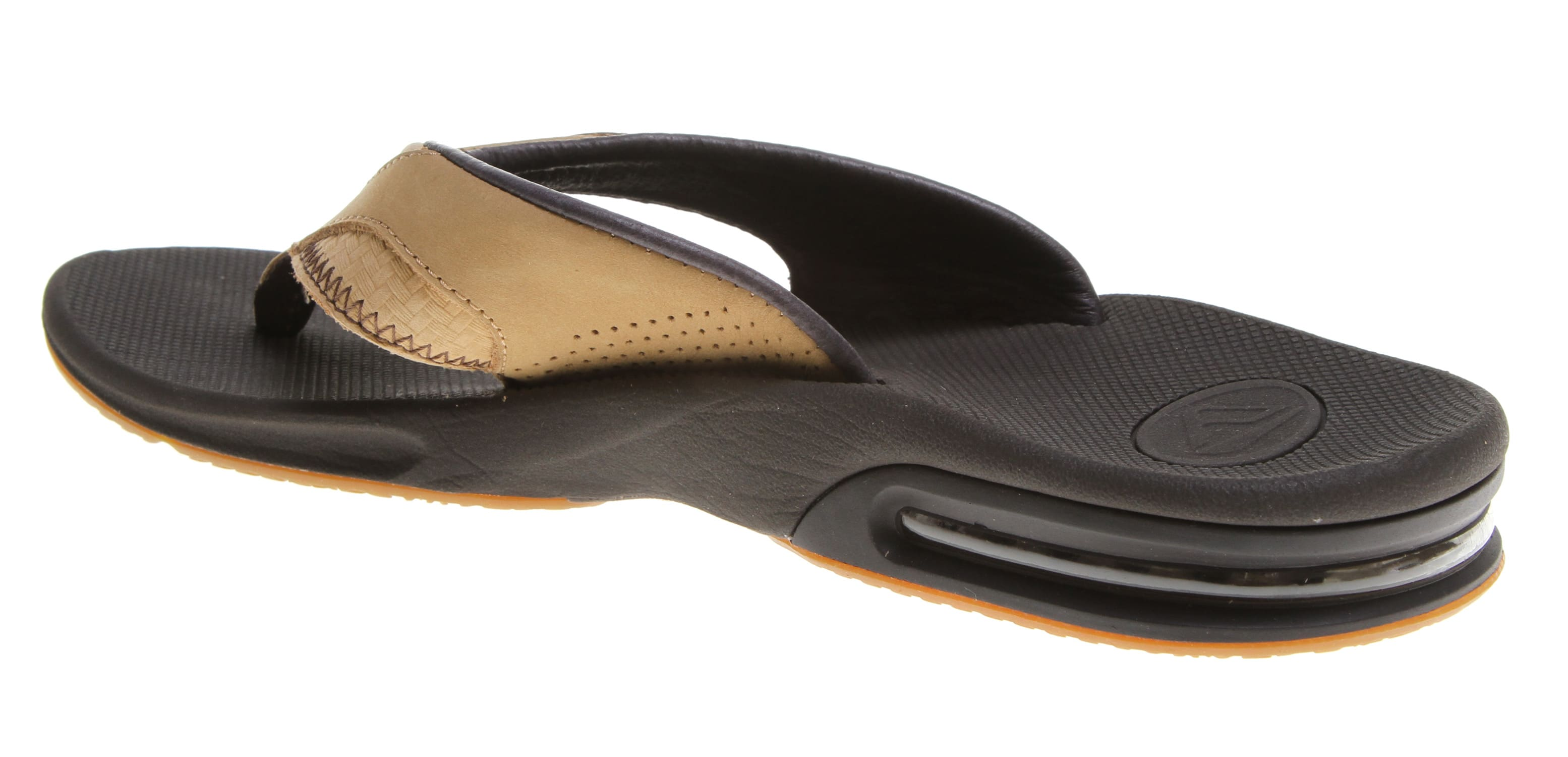 Reef Leather Fanning Sandals-9660