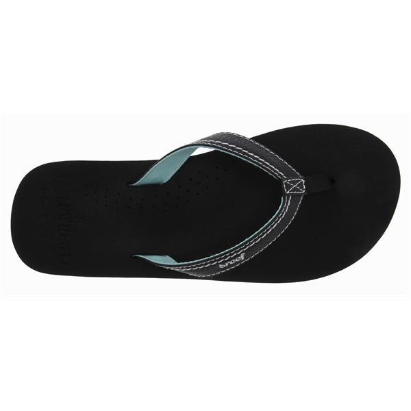 Reef Stitched Cushion Sandals Black / Mint / Silver U.S.A. & Canada