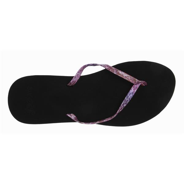 Reef Uptown Girl Sandals Black / Purple / Snake U.S.A. & Canada