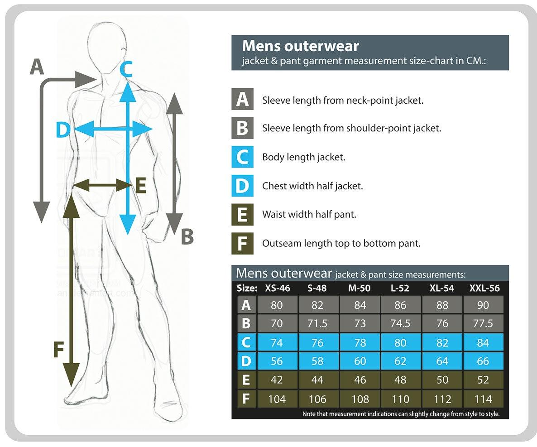 Rehall Men's Size Chart