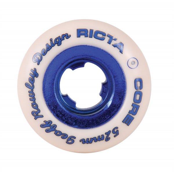 Ricta Chrome Core Rowley Skateboard Wheels White / Dark Blue 52Mm 4Pk U.S.A. & Canada