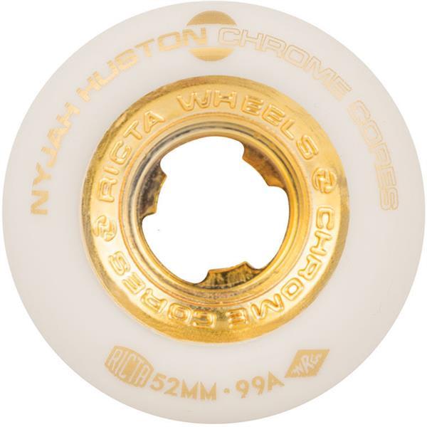 Ricta Skateboard Wheels 52mm Nyjah Huston Chrome Core White//Gold