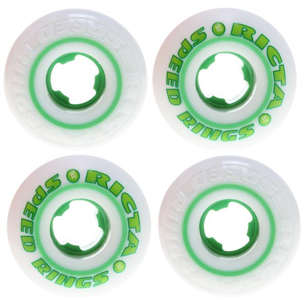 Ricta Speedrings Skateboard Wheels White / Green 52Mm U.S.A. & Canada