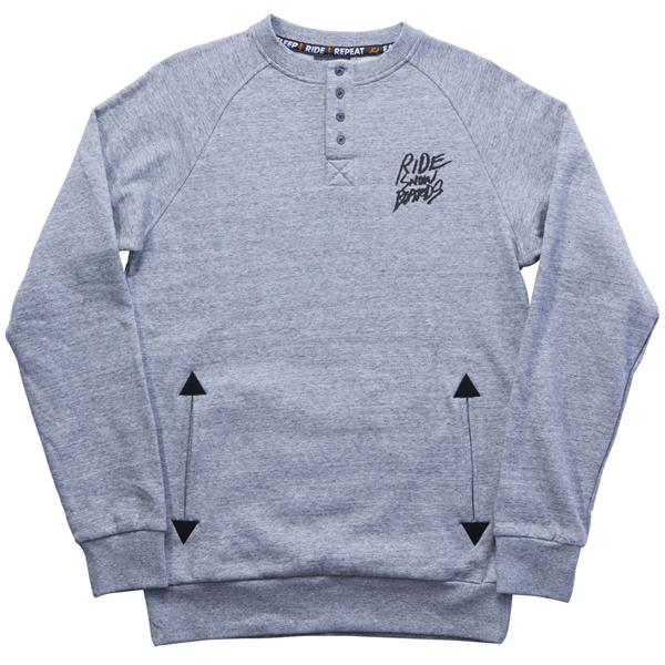 Ride Henley Crew Sweatshirt Charcoal Heather U.S.A. & Canada