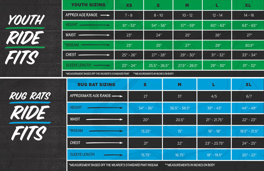 Cappel Youth Size Chart