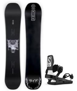 Ride Wild Life Snowboard w/ C-6 Bindings