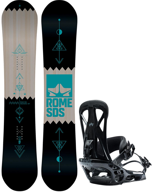 27ac0aab2e Rome Mechanic Snowboard w  United Bindings 2019 rome-mechanic-snowboard- binding-package
