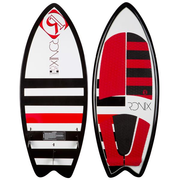 Ronix oal Fish Wakesurfer Black / Red / White W / Lights 5Ft 6In U.S.A. & Canada