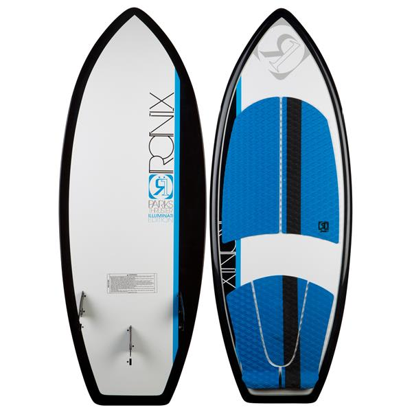 Ronix Parks Thruster Wakesurfer Blue / Black / White W / Lights 5Ft 1In U.S.A. & Canada